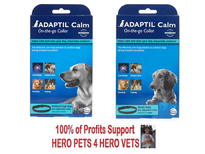 Adaptil Calm On-The-Go Collar Small Med Lg 1 3 6 Pack Dog Puppy Stress Anxiety