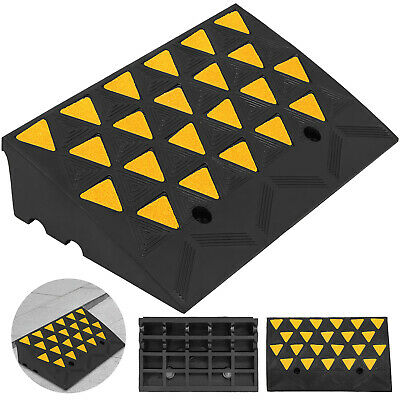 11000lb Rubber Curb Ramp 23.6''x13.8''x6''  Durable Skid Resistance Ramp Set