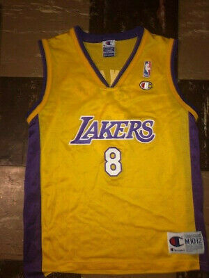 06c5f6dc467 KOBE BRYANT Vtg 90s  8 Los Angeles Lakers CHAMPION GOLD Jersey YOUTH MEDIUM