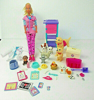 Accessories 6 Piece Set Contemporary Playhouse Dog Cat Barbie Mixed Lot Pets