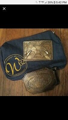 LOT OF 2 Brass VINTAGE  BELT BUCKLES