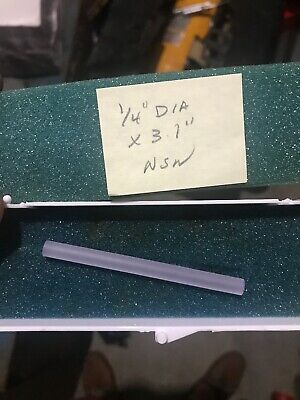 "Lightning Optical Corporation Nd:YAG Laser Rod 1/4"" Dia x 3.1"" New In Box"