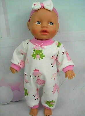 "Dolls clothes for 13""Little Baby Born/Alive Doll~FROG~PRINCESS~UNICORN JUMPSUIT"