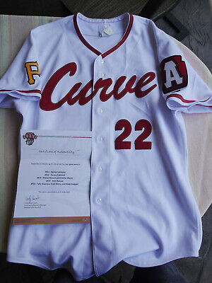 5f55e45e Tyler Glasnow 2015 game used worn jersey Altoona Curve Tampa Bay Rays 6-1 in