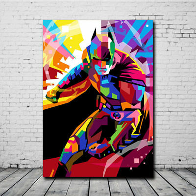 Colorful Batman Abstract Oil Painting Wall Art Print Canvas