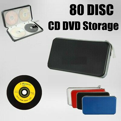 80 Disc CD/DVD Storage Case Double-side Case Hard Wallet