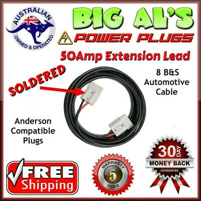 3m 50 Amp 8B&S Anderson Lead Plug Extension 8mm2 Twin Core Automotive Cable Wire