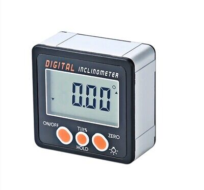 Portable Digital Magnet Inclinometer Electronic Protractor Bevel Box Angle Gauge