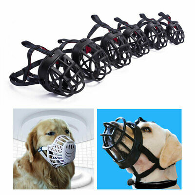 Adjustable Pet Dog Basket Muzzle Pet Puppy No Bite Satety Mouth Mesh Cage Cover