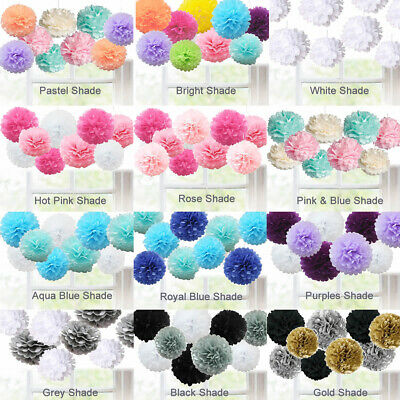 Wedding Party Pom Ball Tissue Paper Flower Home Decoration Hanging Garland