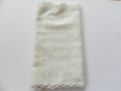 New Broiderie Anglaise Lace - Wide Cream