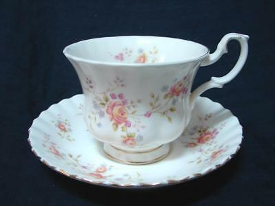 Vintage ROYAL ALBERT 1982 PEACH ROSE cup and saucer