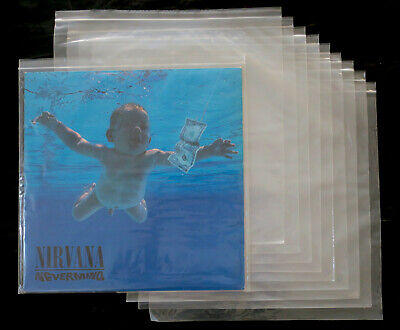 """10x 12"""" Vinyl LP ZIP-LOCK Poly Outer Sleeves (Sealable Plastic Cover) NEW"""