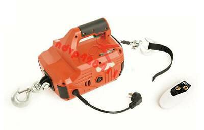 220V Portable Household Electric Winch 450KG*4.6M With Wireless Remote Control
