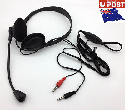 3x Gaming Headset Computer Game Headphones With Microphone Black Colour-AU