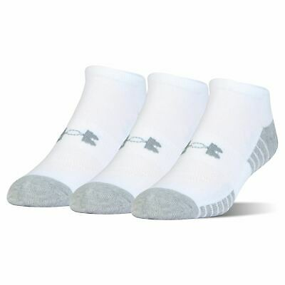 Under Armour Mens Tech No Show 3 Pack Socks Trainer Moisture Wicking