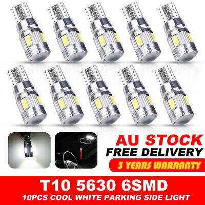 White T10 LED 6SMD W5W 5630 168 194 12V Car Wedge Dash Canbus Parking Side Light
