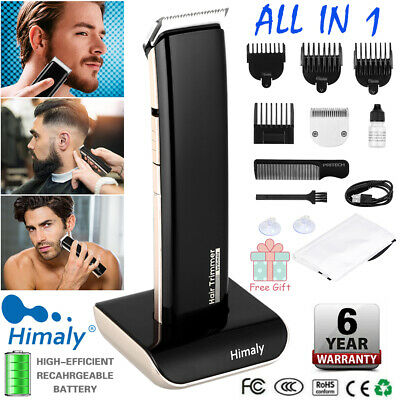 Mens Electric Hair Clipper Cordless Rechargeable Body Hair Trimmer Beard Shaver