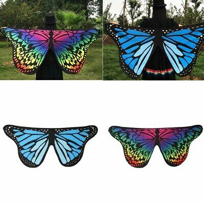 Multicolor Soft Fabric Butterfly Wings Shawl Ladies Fairy Party Holiday Costume