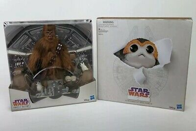 SDCC 2018 Hasbro Star Wars Forces of Destiny Chewbacca and Porgs Open Shelf-wear