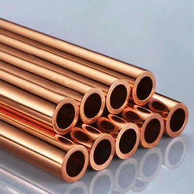 """Dia 8-18mm Pure Red Copper Round Tube Pipe Cutting Tool Metal 500mm 20"""" UK Stock"""