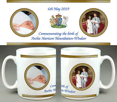 Royal Baby Sussex Archie Mug #6 - Prince Harry Meghan Commemorative Cup