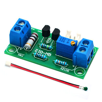 DC 12V Automatic Fan Temperature Control Speed Controller Governor for PC CPU