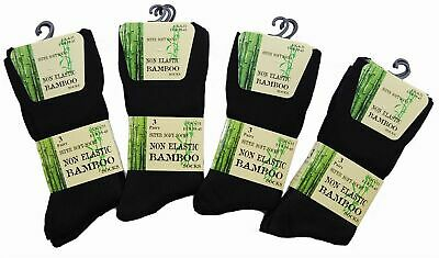 Men Ladies Bamboo Non Elastic Diabetic Super Soft Socks Size UK 4-7 6-11 Cotton