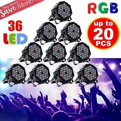LOT 1~20PCS 36W RGB 36LED Par Stage Lighting DMX Color Mixing Wedding Party Club