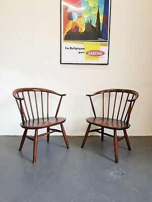 1 x Vintage Ercol Mid Century Cowhorn Chair -Delivery -London se15