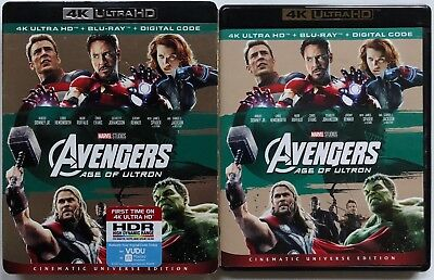 Marvel Avengers Age Of Ultron 4K Ultra Hd Blu Ray 2 Disc Set+ Rare Oop Slipcover