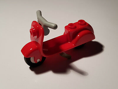 *NEW* Lego Red Bicycle Push Bike Black Tyres for Minifigures Figs People x 1