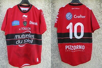 Maillot rugby R.C.T TOULON 2014 2015 WILKINSON n°10 Burrda Sport shirt rouge M