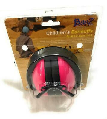 Baby Banz Children's Noise Hearing Protection Ear Muffs, For Ages 2-10 y/o, Pink