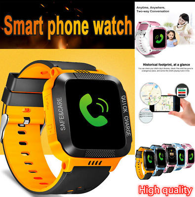 Anti-lost Kids Safe Tracker SOS Call GSM Phone Smart Watch For IOS Android Gift