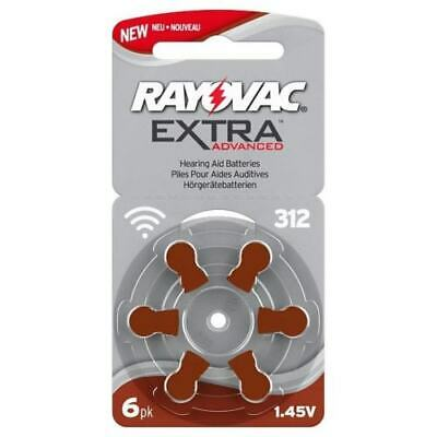 Rayovac Extra Mercury Free Hearing Aid Batteries Size 312 - 120 cells
