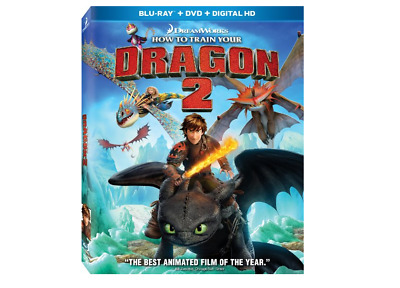 How To Train Your Dragon 2: Blu-Ray + Dvd, No Cover- Brand New Code May B Exp...