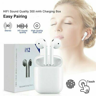 i12 TWS Bluetooth 5.0 Headset Wireless Headphone Earbuds Earphones Touch Control
