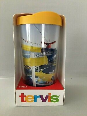 Carnival Cruise Line VIFP TERVIS Yellow Lid 16oz Tumbler Hot or Cold Waterworks
