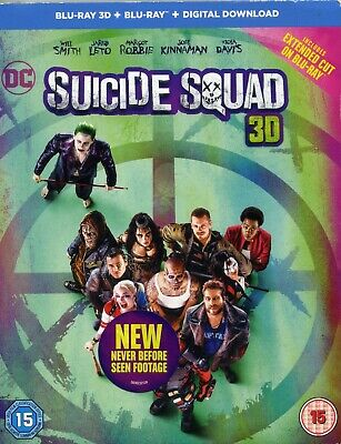 DC Suicide Squad  New Sealed 3D Blu Ray + Blu ray
