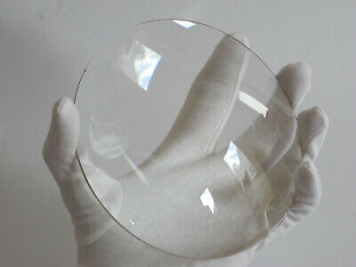 Large plano-convex glass lens D=150mm FL≈300mm - Riesige plankonvexe Linse Lupe