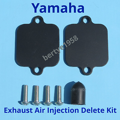 AIS Exhuast Air Injection Block Plates Kit Yamaha FZ1 FZ6 FZ6R FZ8 YZF R1 R6 R6S