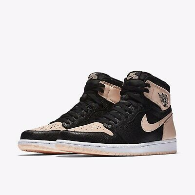 891fbde247c4f2 Nike Air Jordan 1 Retro High Black Crimson Tint Size 7Y Boys Girls 575441-