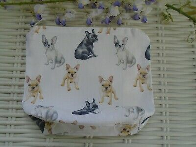 French Bull Dog Make Up Bag Or Large Pencil Case Pet Dogs Cotton Unique Gift