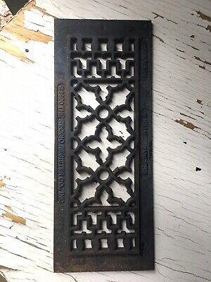 Reggio Register Cast Iron Floor Vent Covers  Grill Metal VTG 80's