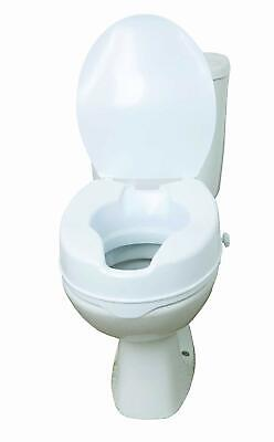"Raised Toilet Seat with Lid 6"" Elevated Seat Toileting Disability Aid By Drive"
