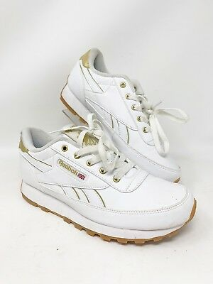 49c2219c867bb Reebok Classic Leather Size 7.5 Women s White Gold Running Walking Shoes  1Y3502