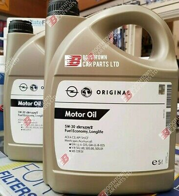 VAUXHALL 5w 30 GENUINE GM DEXOS 2 C3 10 LITRE VW FULLY SYN ENGINE OIL