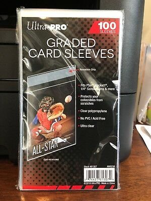 300 Ultra Pro Graded Card Sleeves 3 Packs of 100 for PSA Beckett Graded Cards