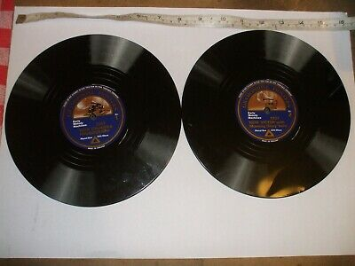 """2 """"Record"""" Plate mats made by Metal Box giftware c 1980?"""
